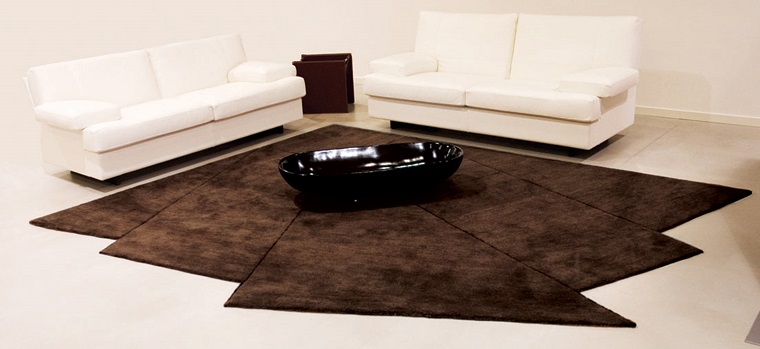 alfombra moderna forma original marron ideas