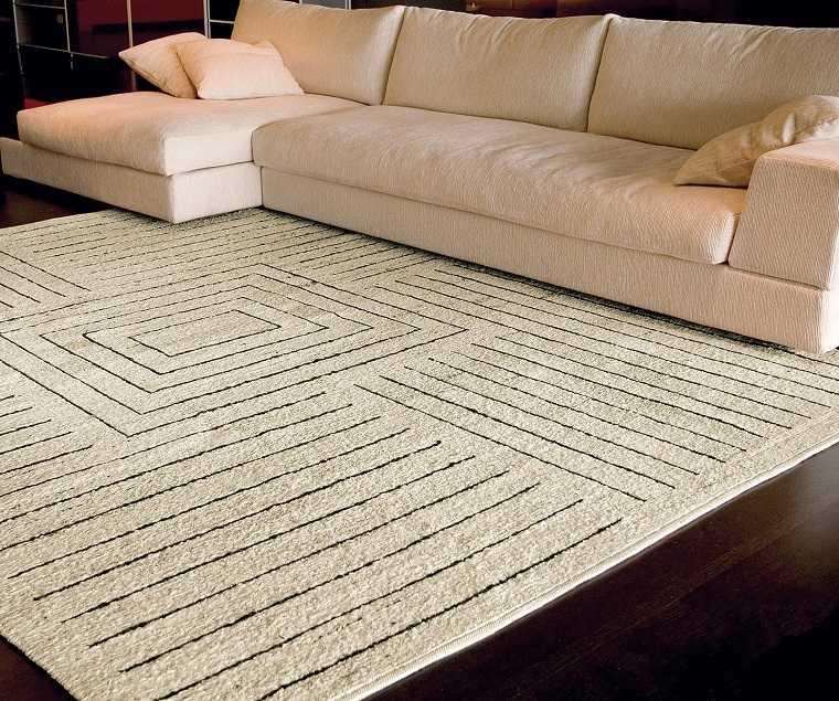 alfombra moderna lineas cuadros ideas - Alfombra Moderna