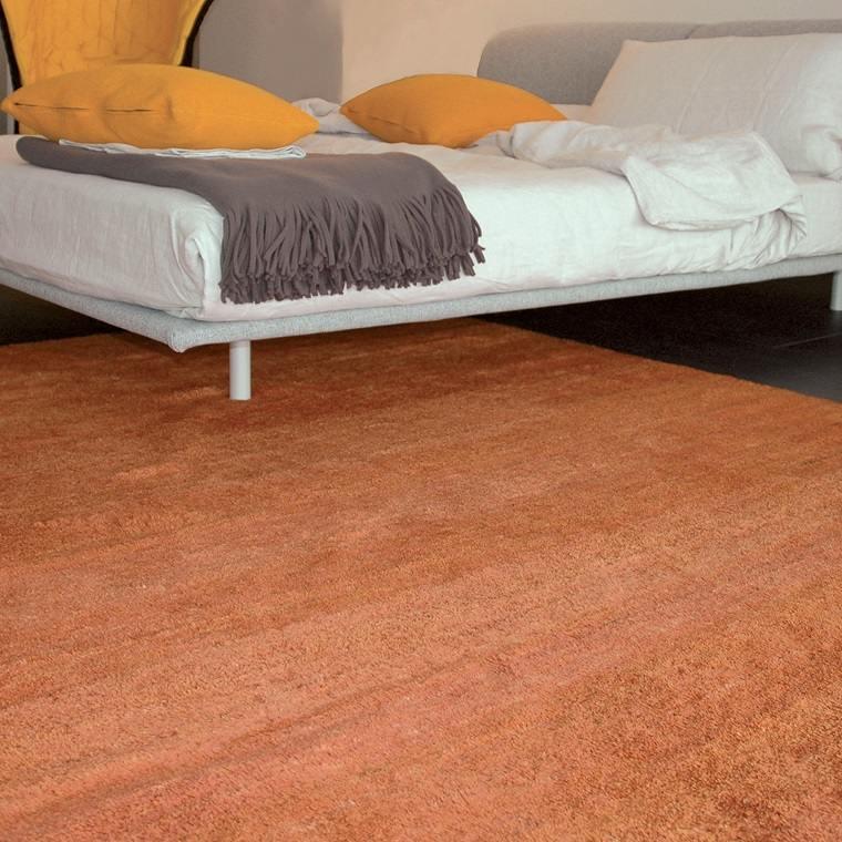 alfombra moderna naranja dormitorio moderno ideas