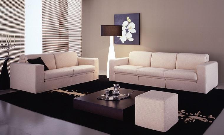 alfombra moderna salon negra elegante ideas