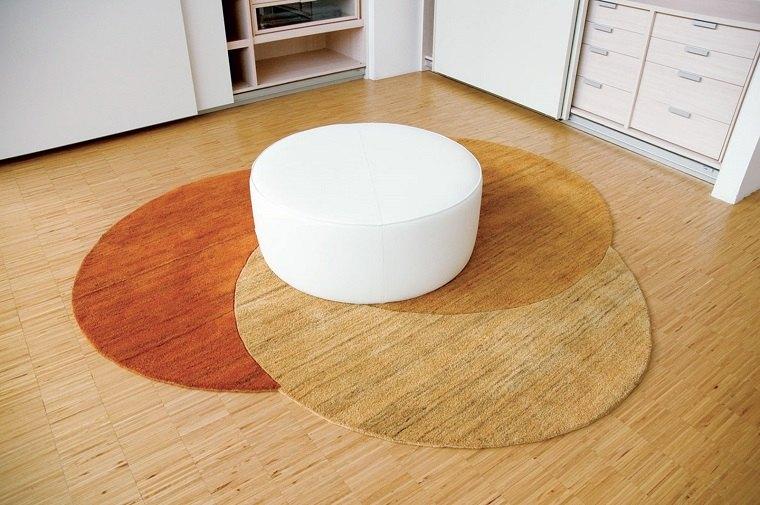 alfombra moderna tres colores circulos ideas