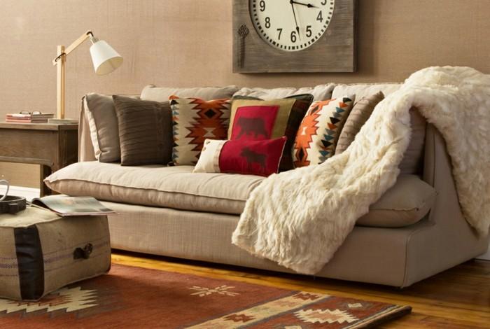 alfombras decorado jarrones nordico reloj