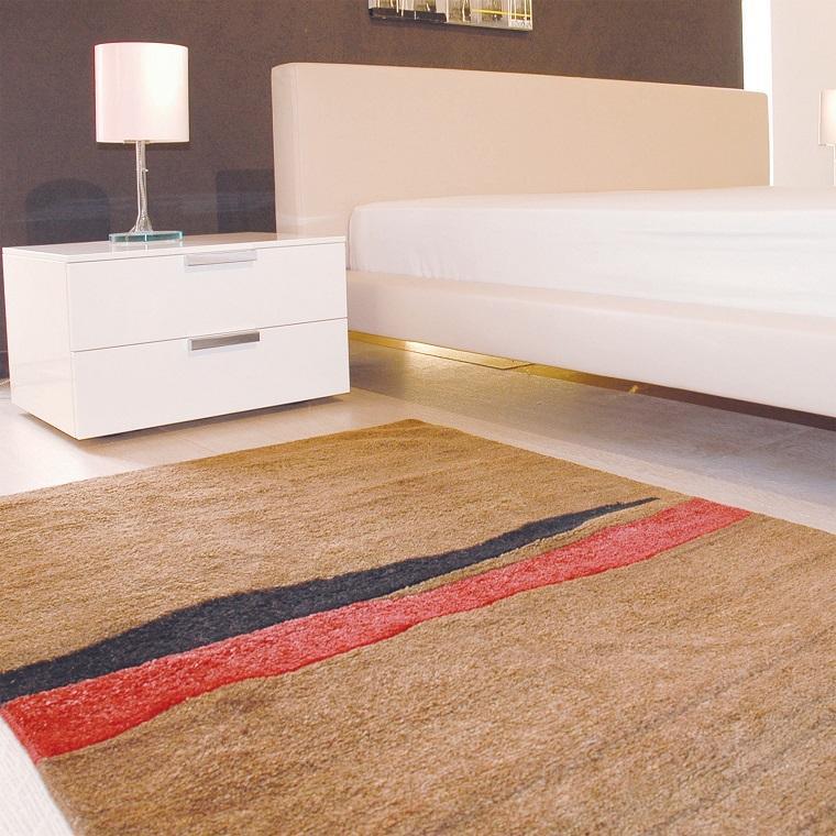 alfombra moderna cama blanca dormitorio ideas