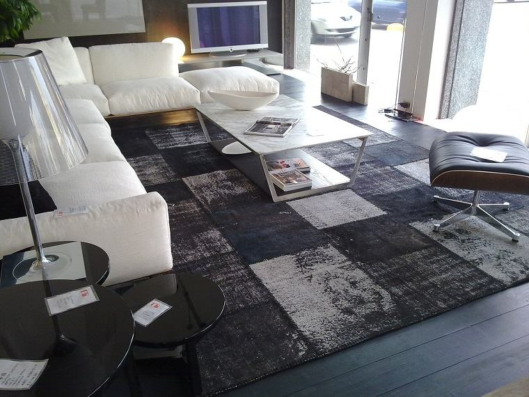 alfombra moderna color negro gris ideas