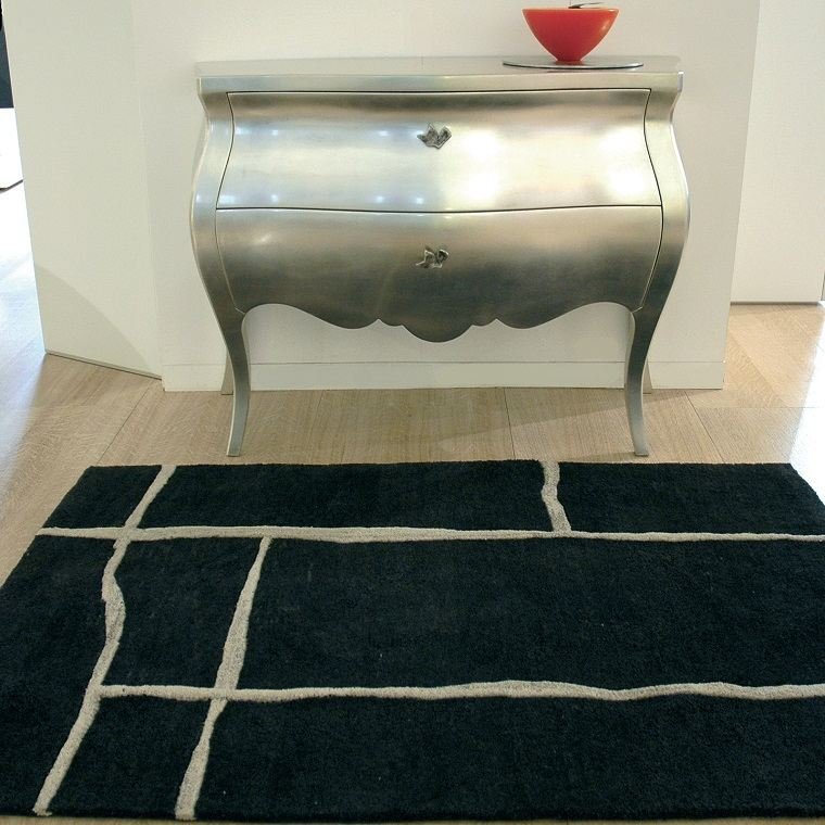 alfombras modernas color plata ideas