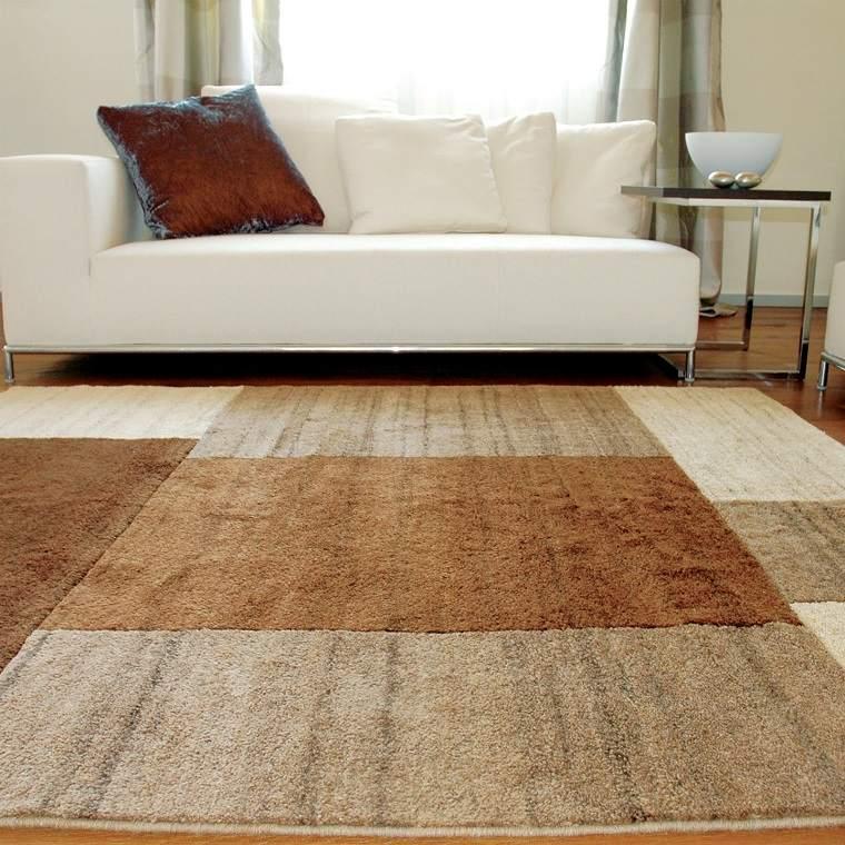 alfombra moderna combinacion distintas tonalidades ideas