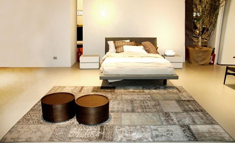 alfombra moderna mesas dormitorio gris ideas