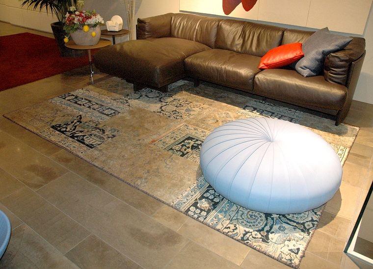 alfombra moderna otomana salon ideas