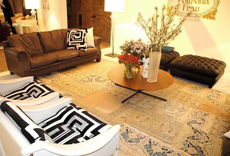 alfombra moderna plantas salon ideas