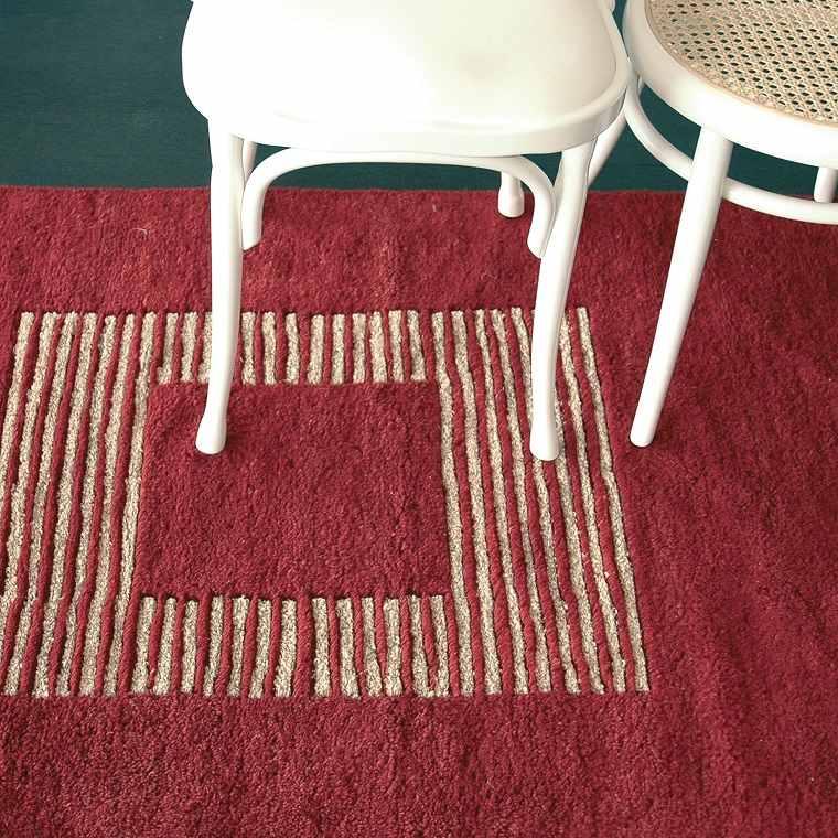 alfombras modernas roja rayas preciosa ideas