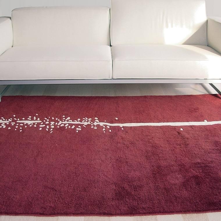 alfombras modernas rojo oscuro aplicaciones ideas