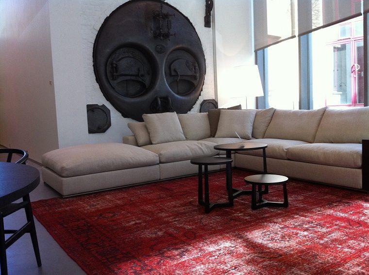 alfombras modernas rojo vibrante ideas