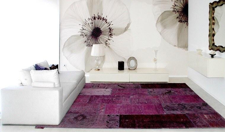 alfombras modernas rosa purpura vintage ideas