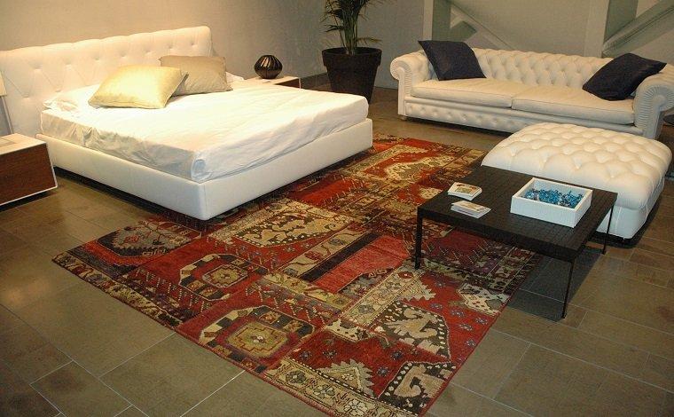 alfombra moderna vintage roja ideas