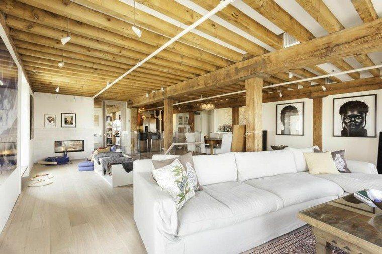 apartamento amplio salon chimenea ideas