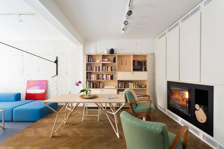 apartamento chimenea negra preciosa ideas