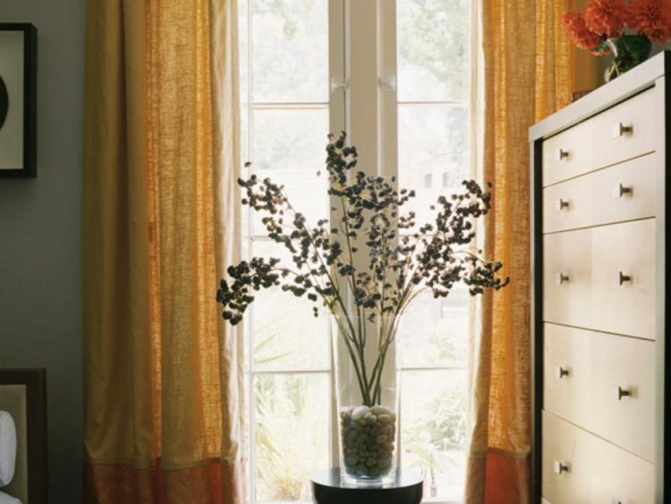 arreglos florales diseño creativo cortinas rocas