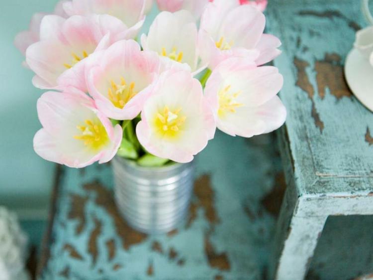 arreglos florales diseño creativo vintage mesas
