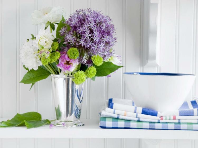 arreglos florales diseño creativo fresco
