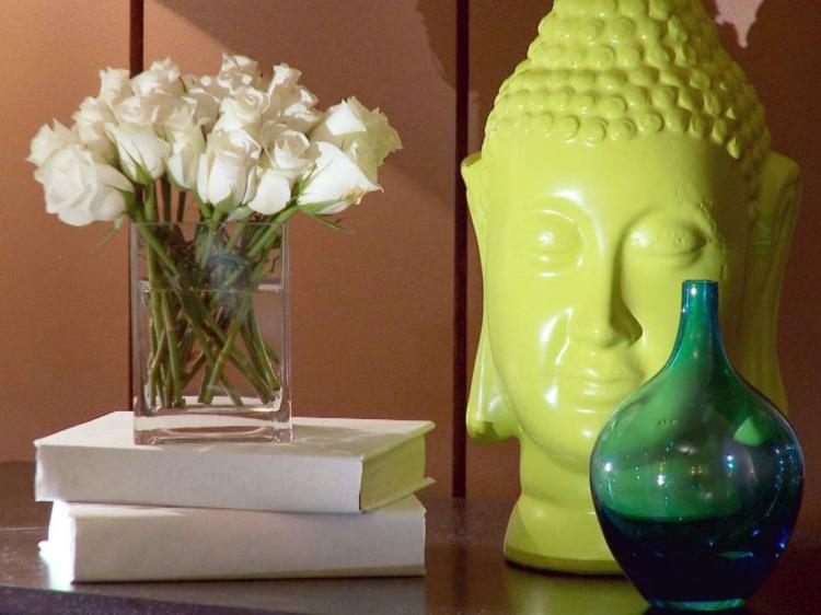 arreglos florales diseño vidrio vaso blancas