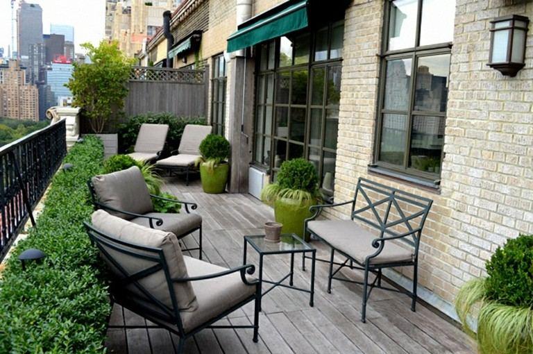 sillas terraza color gris