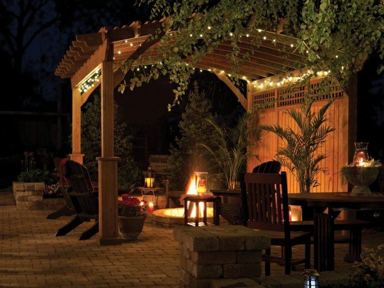 atractiva noche decorado lamparas macetas