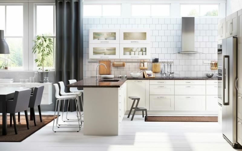 azulejos blancos cocina comedor