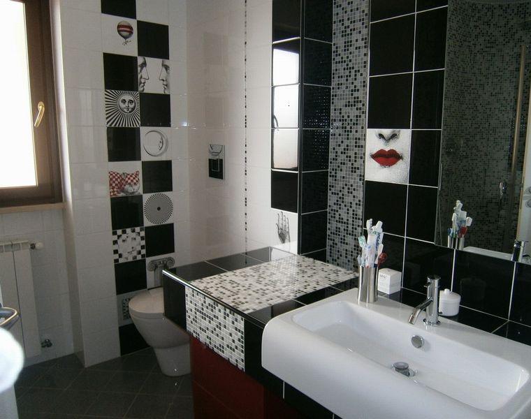 Baño Moderno Gresite Negro