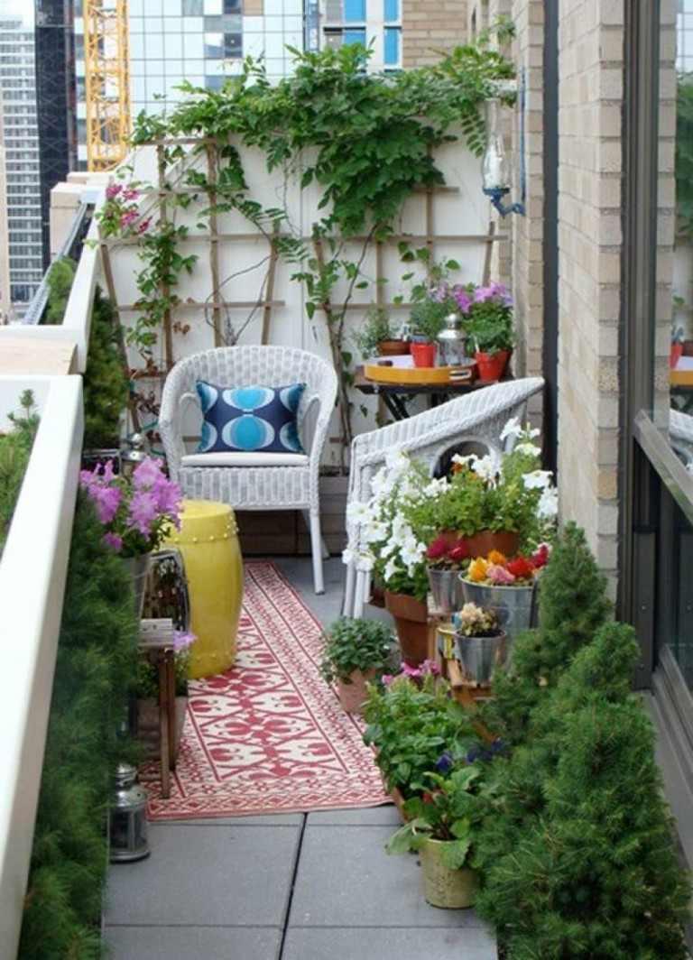 balcon pequeño deco plantas