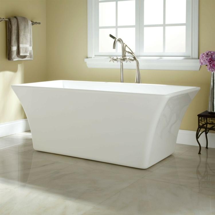 bañeras exentas ideas practicas blanca toallas