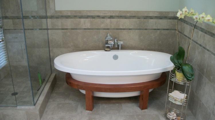 bañeras exentas ideas practicas madera bases flores