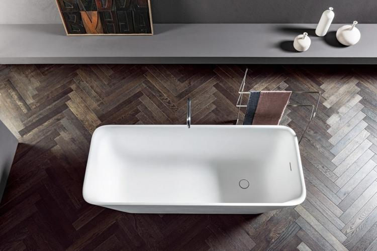 bañeras exentas suelo madera natural