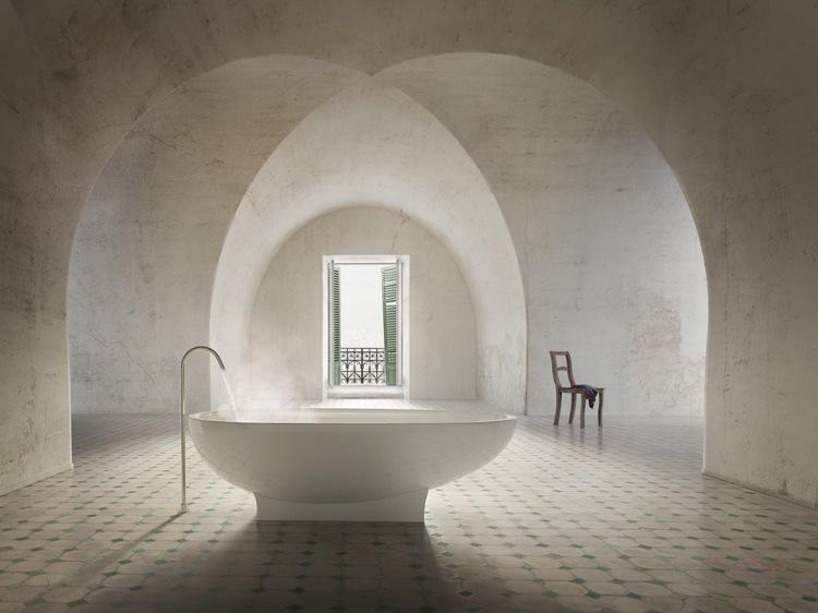 bañeras exentas techo boveda sillas