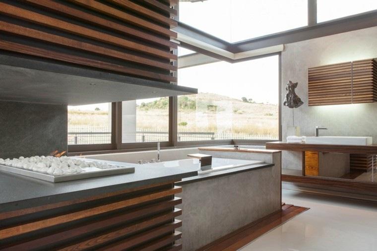 muebles baño madera teca