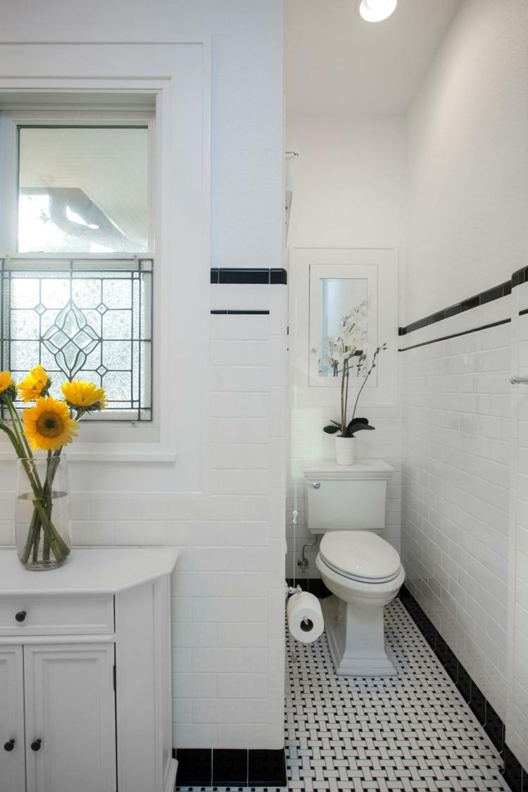 baño blanco luminosos ideas lineas girasoles