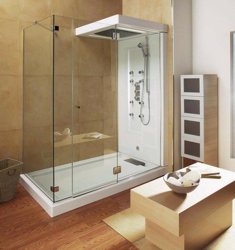 baño laminado madera cabina hidromasaje