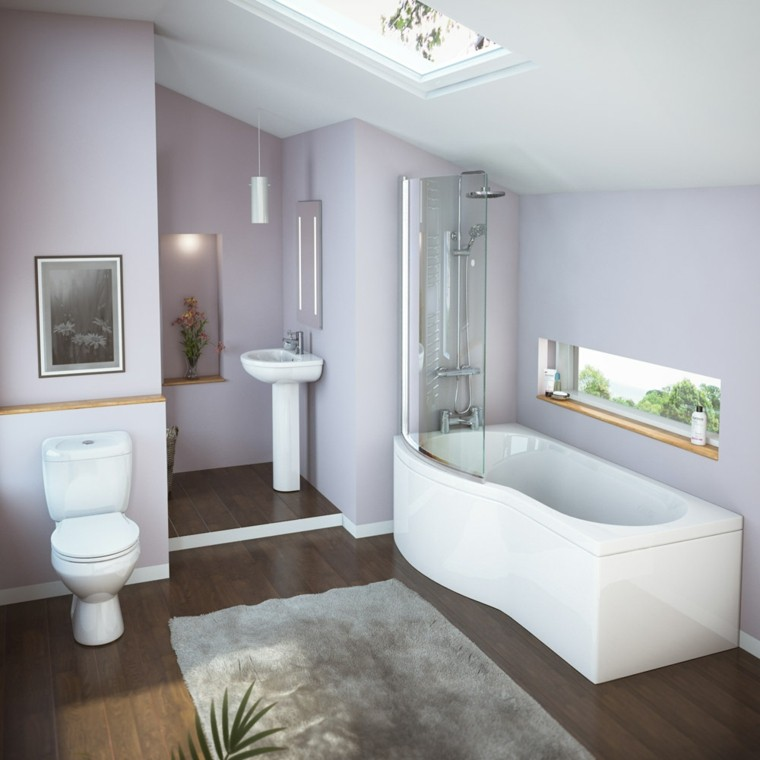 diseño baño pequeño bañera