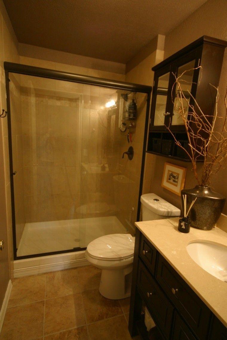 baño pequeño mampara vidrio ducha
