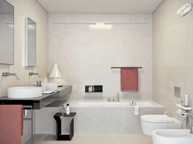 baños pequeños modernos bañera