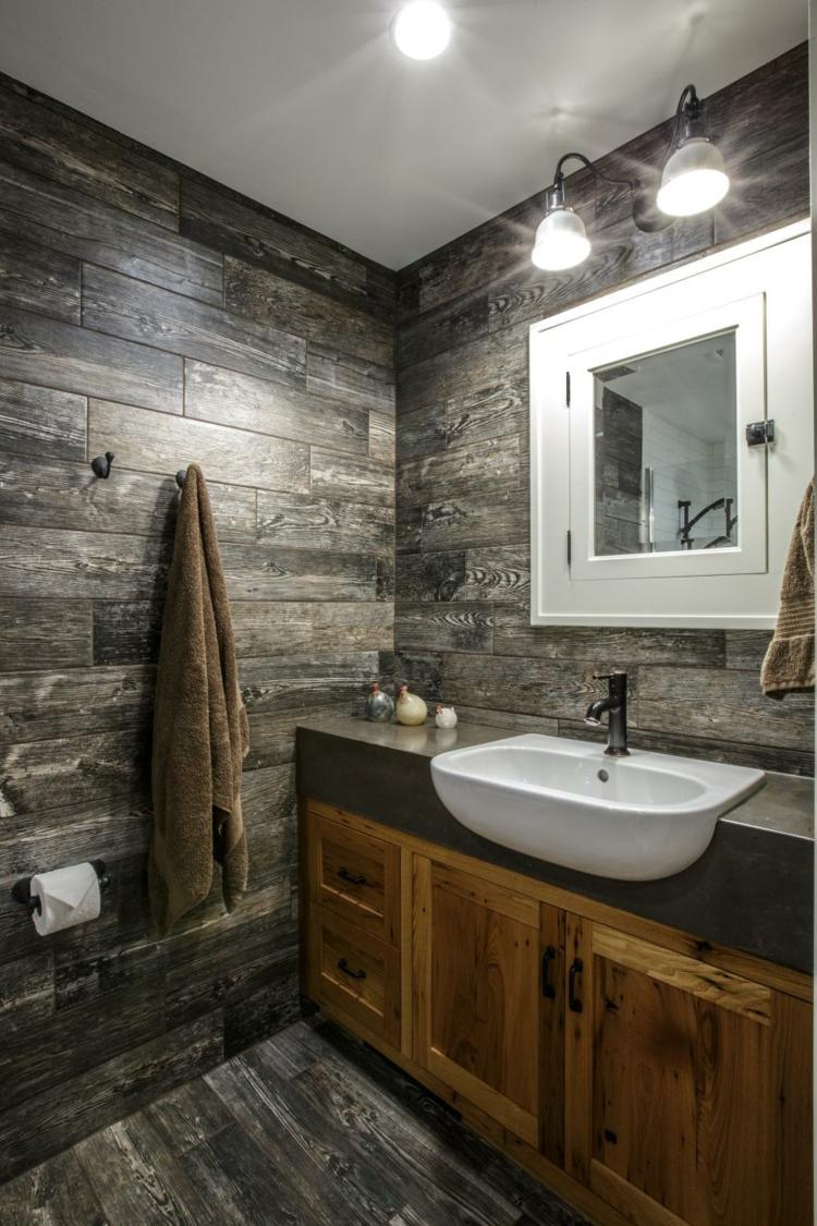 baños variantes soluciones creativos luminarias paredes