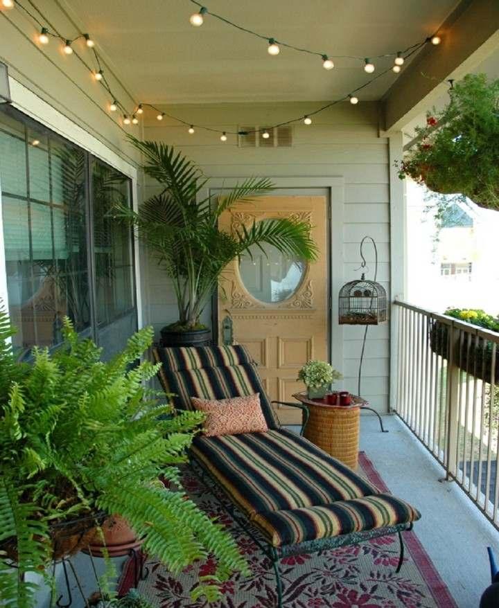 Balcones peque os decorados con mucho estilo 45 ideas - Decoracion balcones pequenos ...
