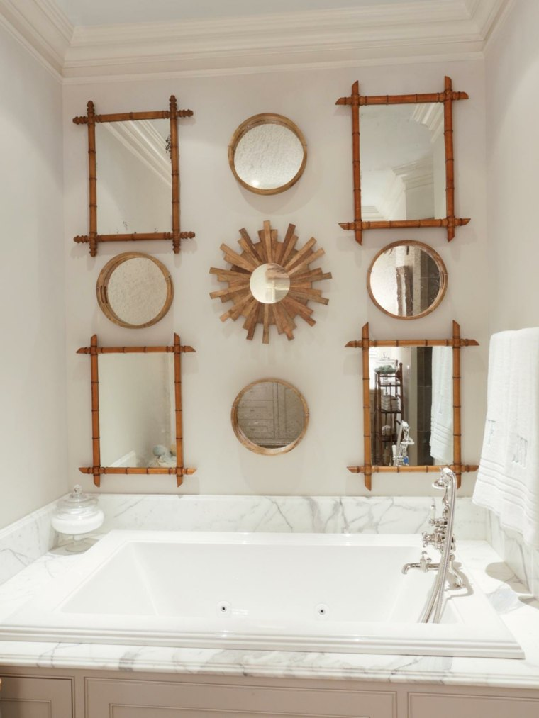 bambu decoradas variantes rosa espejos