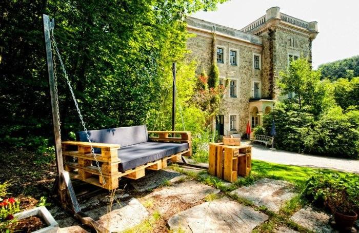Palet de madera para decorar su hogar 100 ideas for Sillon jardin madera