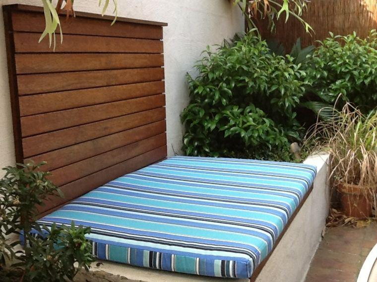 banco jardin asiento acolchado tela