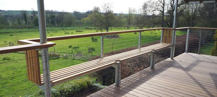 banco para terraza diseño moderno