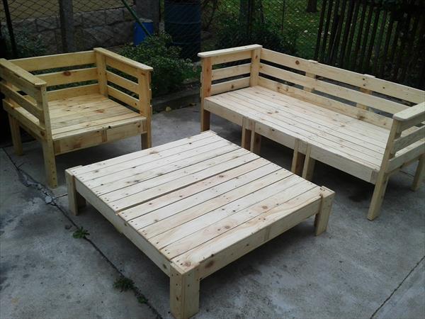 conjunto muebles terraza palet