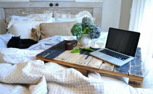 bandeja madera cama pales