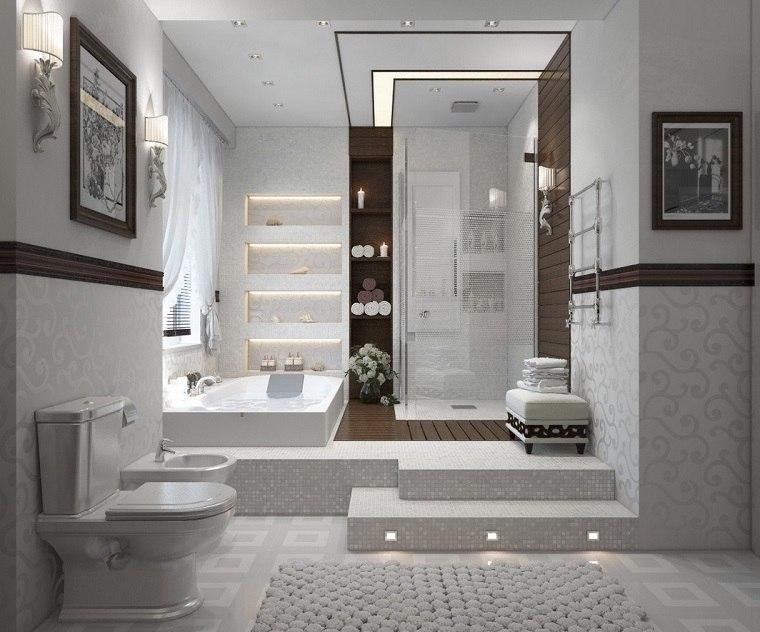baño diseños contemporaneo blanco ideas