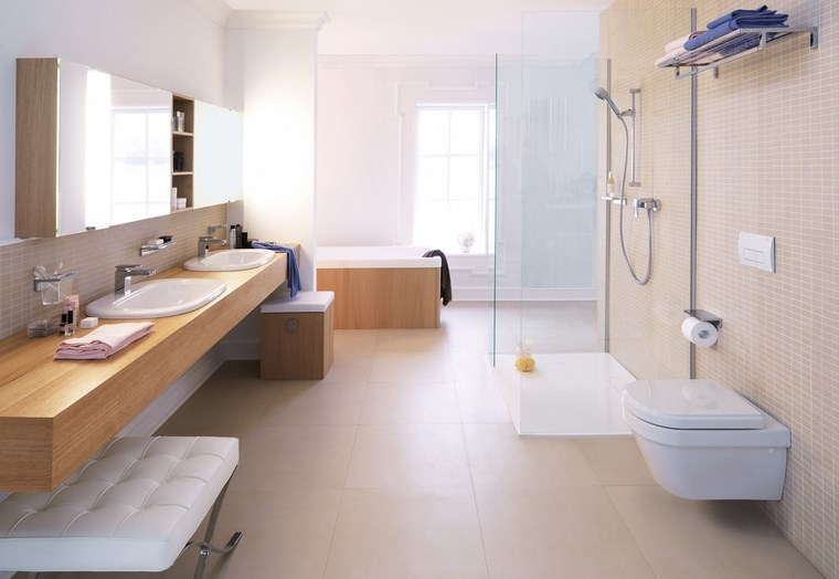 baño diseños amplio ducha banera ideas