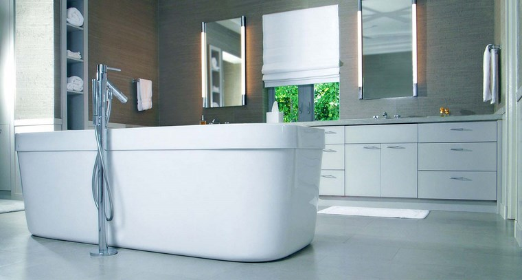 baño diseños banera blanca grande ideas